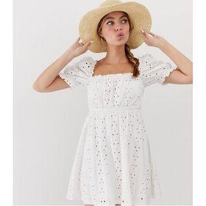 ASOS Milkmaid Broderie Mini Dress